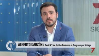 Photo of Alberto Garzón en el debate electoral de 7TV Andalucía
