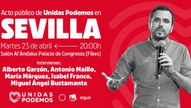 Photo of Acto de Unidas Podemos en Sevilla – 23/04/2019