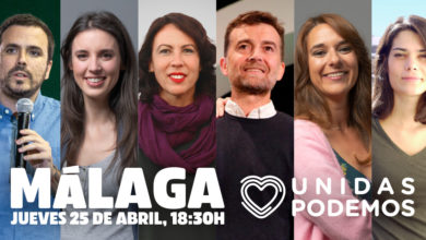 Photo of Acto de Unidas Podemos en Málaga – 25/04/2019