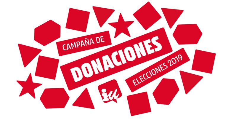 Campaña de donaciones de Izquierda Unida