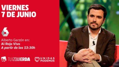 Photo of Alberto Garzón: «Ada Colau ha intentado un pacto de las tres izquierdas cambiando el eje nacional por el eje social y ERC ha dicho que no. Me parece muy buena idea que se presente como alcaldesa»