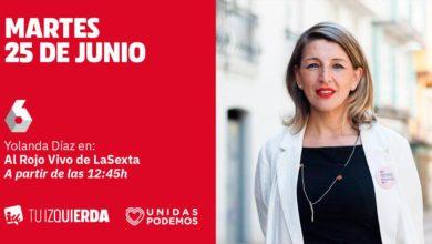 Photo of Yolanda Díaz: «Me sorprende que el PSOE no quiera hablar de lo serio: de derogar la reforma laboral y de pensiones o de subir impuestos a los ricos y bajarlos a los pobres. Sólo quieren hablar de sillones»