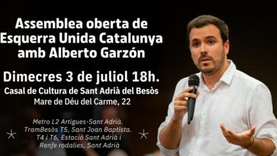 Photo of Dimecres 3 de juliol, assemblea oberta d'Esquerra Unida Catalunya amb Alberto Garzón