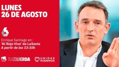 Photo of Enrique Santiago: «Es corresponsabilidad de los partidos de izquierda evitar elecciones y no darle al trifachito la oportunidad de gobernar»