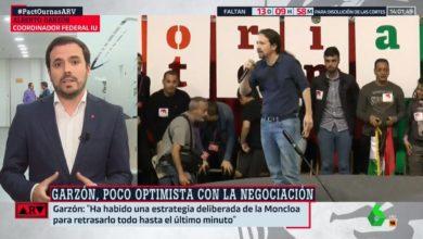 """Photo of Alberto Garzón: """"La estrategia del PSOE ha sido dejarlo todo para el último momento porque creen que repetir elecciones les favorece"""""""