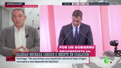 Photo of Enrique Santiago: «No queremos repetición de elecciones bajo ningún concepto, pero eso depende de Pedro Sánchez. Mi intención es no levantarme de la mesa hasta que tengamos un acuerdo»