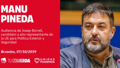 Photo of Manu Pineda: «Borrell ha venido al Parlamento Europeo a hacer guiños exclusivamente a la derecha para asegurarse su nombramiento como nuevo Alto Representante de la UE»