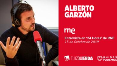 Photo of Alberto Garzón: «La condena a 'los Jordis', que sólo estaban en una manifestación, abre la puerta a que se acuse de sedición a quienes paran desahucios o a los pensionistas que están hoy en Madrid»