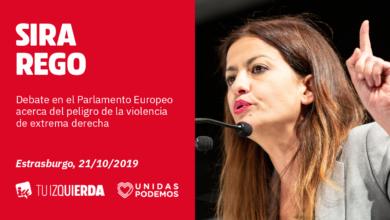 Photo of Sira Rego: «A Europa le iría mejor si, en lugar de discutir con el fascismo, se dedicara a combatirlo»