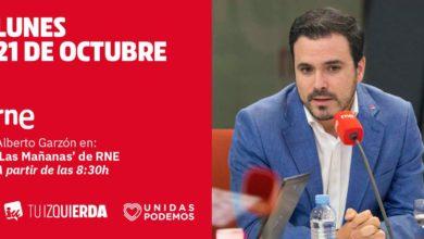 """Photo of Alberto Garzón: """"Nuestro modelo es la república federal, no compartimos ni la independencia unilateral ni esa idea de España única y homogénea de la derecha reaccionaria"""""""