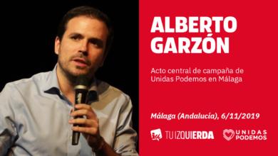 Photo of Alberto Garzón: «En Málaga nos jugamos por un puñado de votos que el escaño sea de Unidas Podemos o de un fascista de Vox»