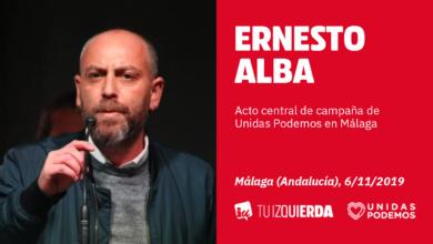 Photo of Ernesto Alba: «Al trabajador pobre que culpa al inmigrante y vota a Vox hay que decirle que es un cobarde»