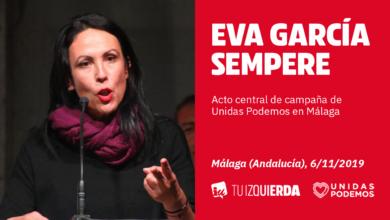 Photo of Eva García Sempere: «Sabéis que a nosotras no nos va a temblar la mano contra los poderosos»