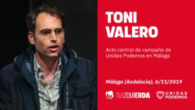 Photo of Toni Valero: «El 10N nos jugamos a servicio de quien está el Estado, si del pueblo de la oligarquía»