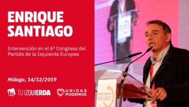 Photo of Enrique Santiago: «El Partido de la Izquierda Europea representa al hilo rojo del movimiento obrero sumado al ecologismo y el feminismo»