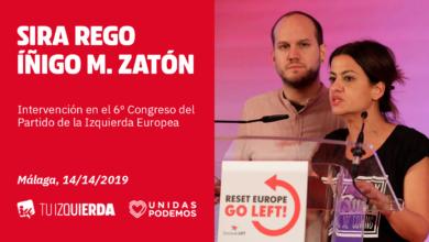 Photo of Intervención de Sira Rego e Íñigo Martínez en nombre de Izquierda Unida en el VI Congreso de la Izquierda Europea
