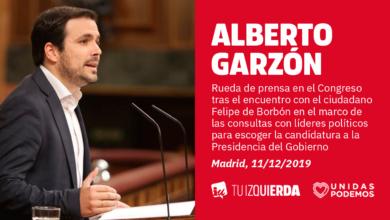 """Photo of Alberto Garzón traslada al jefe del Estado que para IU un Gobierno Unidas Podemos-PSOE """"es una vía de esperanza para mejorar la vida de las familias trabajadoras y solucionar el conflicto territorial"""""""
