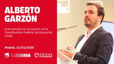 """Photo of Alberto Garzón se compromete a que el Gobierno de coalición defienda desde el primer momento """"la paz, la convivencia y la mejora de las condiciones de vida de las familias trabajadoras"""""""