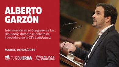 """Photo of Alberto Garzón defiende un Gobierno de coalición que apueste por el """"diálogo y la negociación para resolver los conflictos"""" frente a esos """"elementos reaccionarios que están en contra de esta investidura"""""""