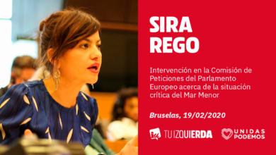 Photo of Sira Rego: «Si tanto les preocupara a PP y C's el Mar Menor, no hubieran impedido la misión de investigación sobre el territorio del Parlamento Europeo que propuse hace unos días»