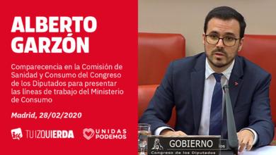 Photo of Alberto Garzón explica las líneas de trabajo del Ministerio de Consumo