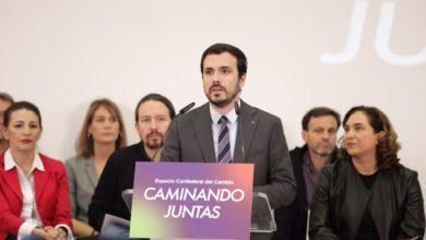 """Photo of Alberto Garzón: """"Las militancias de IU, Podemos y los Comunes debemos trabajar codo con codo. Estamos en la misma trinchera y no podemos equivocarnos de adversario"""""""