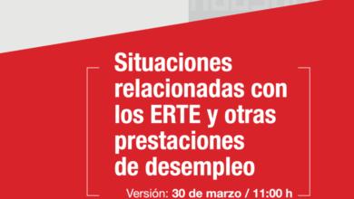 Photo of Manual de respuesta sindical ante el COVID-19: Situaciones relacionadas con los ERTE y otras prestaciones de desempleo – CCOO