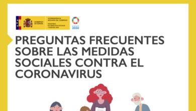 Photo of Preguntas frecuentes sobre las medidas sociales contra el coronavirus – Vicepresidencia de Derechos Sociales y Agenda 2030