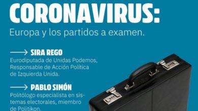 Photo of Charla «Coronavirus: Europa y los partidos a examen», con Sira Rego y Pablo Simón (sábado 28 de marzo a las 18:00h)