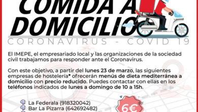 Photo of Menús de dieta mediterránea a domicilio – Ayuntamiento de Alcorcón