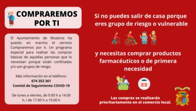 Photo of Servicio para realizar compras a personas vulnerables – Ayuntamiento de Museros