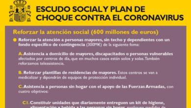 Photo of Plan de choque social contra el Coronavirus de 600 millones de euros para reforzar los servicios de atención social – Gobierno de España
