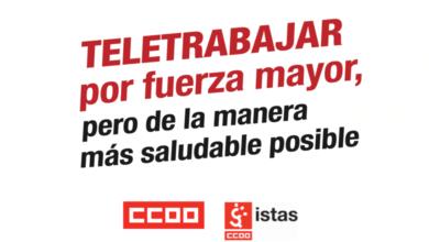 Photo of Guía para teletrabajar de manera saludable – CCOO