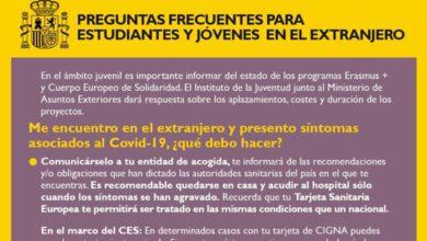 Photo of Preguntas frecuentes para estudiantes y jóvenes en el extranjero – Gobierno de España
