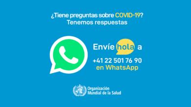 Photo of La OMS lleva la información de la COVID-19 a millones a través de WhatsApp
