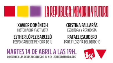 Photo of Acto «La República: Memoria y Futuro» – 14 de abril de 2020 a las 19:00h