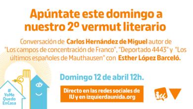 Photo of Segundo #VermutLiterarioIU, con Carlos Hernández de Miguel y Esther López Barceló
