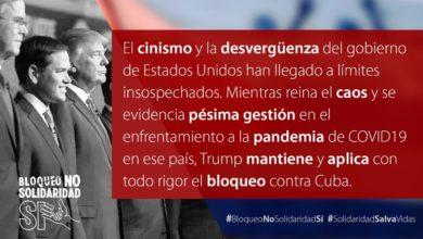 Photo of IU se implica en la campaña internacional #BloqueoNoSolidaridadSi y reclama que se levanten las sanciones a Cuba para que luche con garantías contra el Covid-19