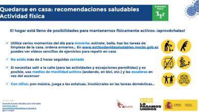 Photo of Recomendaciones saludables para el confinamiento – Ministerio de Sanidad