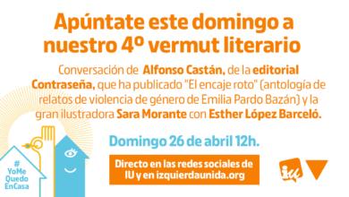Photo of Cuarto #VermutLiterarioIU, con Alfonso Castán, Sara Morante y Esther López Barceló