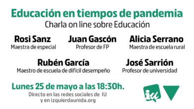 Photo of Acto «Educación en tiempos de pandemia»
