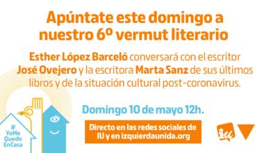 Photo of Sexto #VermutLiterarioIU, con Marta Sanz, José Ovejero y Esther López Barceló