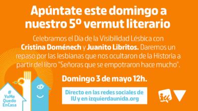 Photo of Quinto #VermutLiterarioIU, con Cristina Doménech, Juanito Libros y Esther López Barceló