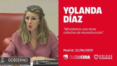 Photo of Yolanda Díaz: «Trabajo son también todas las tareas de cuidados, sin ellos no funciona el mundo»