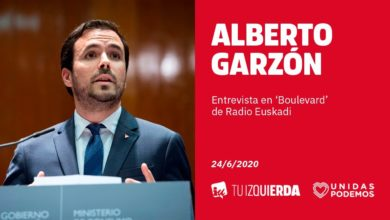 Photo of Alberto Garzón: «No queremos otro estado de alarma, pero dependerá de los rebrotes y el criterio científico»