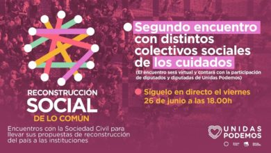 Photo of Acto de la campaña 'Reconstrucción Social de lo Común' – Colectivos de Cuidados