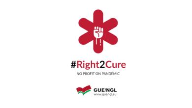 Photo of Unidas Podemos se suma a la campaña de la plataforma #Right2Cure para conseguir que la vacuna contra el Covid-19 sea universal y gratuita