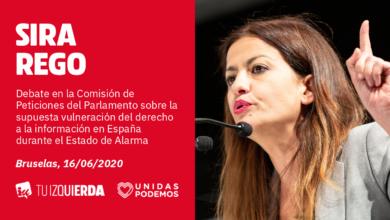 Photo of Sira Rego: «Es lamentable que el PP use la Eurocámara para atacar al Estado de Alarma, una herramienta Constitucional que ha salvado miles de vidas»