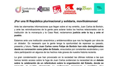 Photo of «La juventud quiere decidir» – Comunicado conjunto de las principales organizaciones de izquierdas por la República