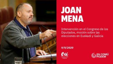 Photo of Joan Mena: «VOX habla mucho de la 'derechita cobarde', pero se han convertido en la 'derechita quejica'»